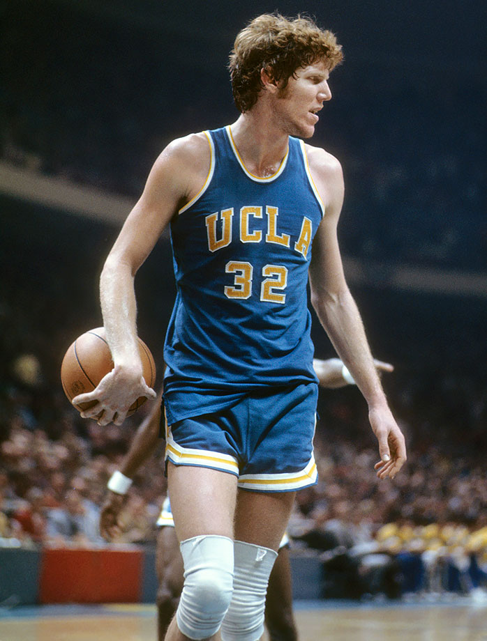 Walton was perhaps the best-passing big man in history. He served as the lynchpin of two NCAA championship teams as well as the 1974 semifinalist that lost to eventual champ N.C. State in overtime. Walton also turned in arguably the best single-game performance in tournament history when he scored 44 points on 21-of-22 shooting in the 1973 final against Memphis. Walton's Bruins also set two NCAA records that still stand: most consecutive games won (88) and average margin of victory (30.1 points).