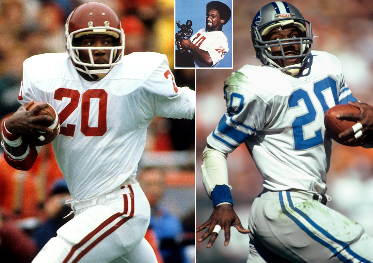 He set the Oklahoma rushing record en route to winning the 1978 Heisman, and Sims was taken with the first overall pick by Detroit in 1979. He had a strong start to his career, making the Pro Bowl team in three of his first four seasons before a knee injury cut his career short in 1984. Despite the injury, He retired with 5,106 career yards and 42 touchdowns.