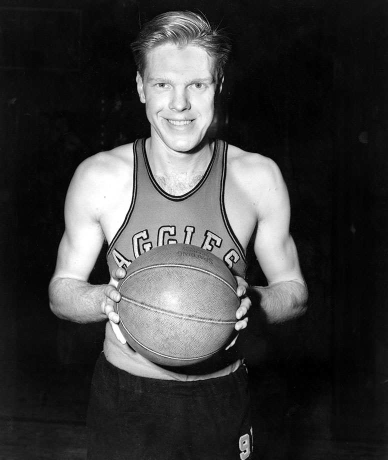 It was very unusual for a team to have a 7-foot player in the mid-1940's, and especially rare for such a big man to be mobile and skilled. Kurland was the anchor of Henry Iba's back-to-back NCAA champions and was a three-time All-America. In his final season he scored nearly 40 percent of his team's points. Kurland was the first player to win back-to-back Most Outstanding Player awards at the Final Four and he was the reason Oklahoma A&M became the first repeat champion.