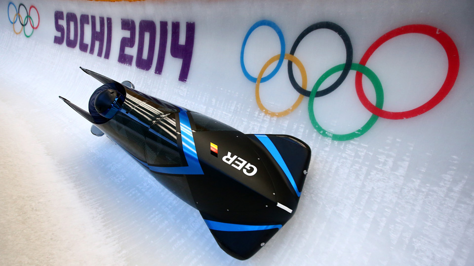 Bobsleigh training began on Wednesday for Olympic competitors.