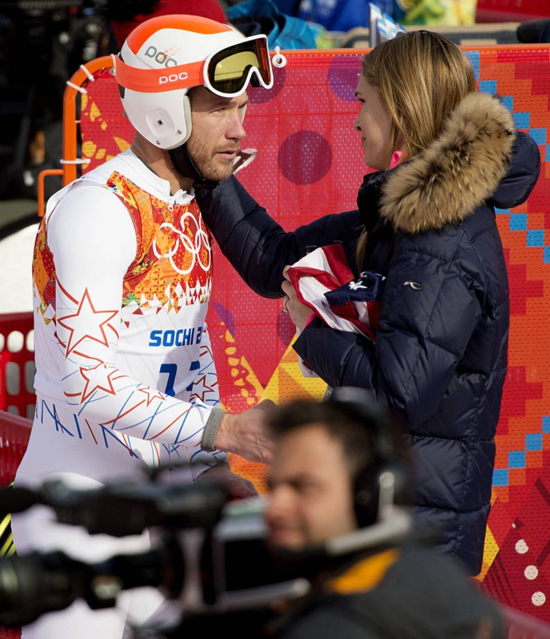 Bode and wife Morgan discuss his performance in the super-G.