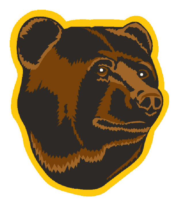 Not that anyone really expects a logo to strike fear into the hearts of opponents, but if you're going to use a ferocious beast like a bear shouldn't it at least appear somewhat menacing? Apparently the B's were going for a different vibe with the cuddly Pooh bear. He appears relaxed. Insouciant. Almost as if he had a belly full of hunny. . . .