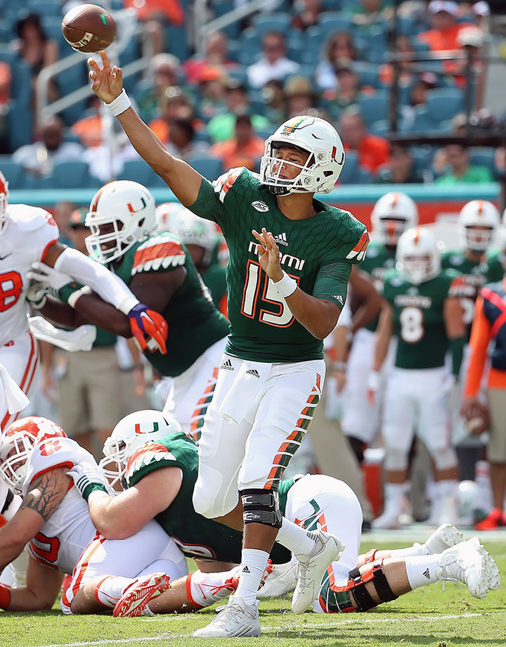 Kaaya threw for 3,238 yards and 16 touchdowns last season, finishing second in the ACC in passing yards behind only Clemson's Deshaun Watson.