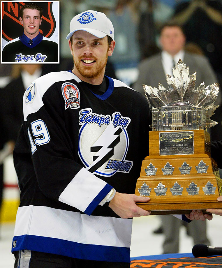 The fifth rounder they received from Calgary for Jason Wiemer on March 24, 1998 was a dud (Curtis Rich) but the Lightning struck gold with the third rounder, taking Rimouski center Richards at No. 64. The flashy playmaker became one of the best second-line centers in the game, scoring 26 points in 23 games to claim the Conn Smythe Trophy as MVP of Tampa Bay's 2004 Stanley Cup championship.