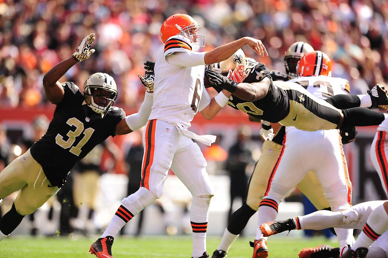 Quarterback Brian Hoyer stood tall in the pocket against New Orleans, helping the Browns to a 26-24 upset.