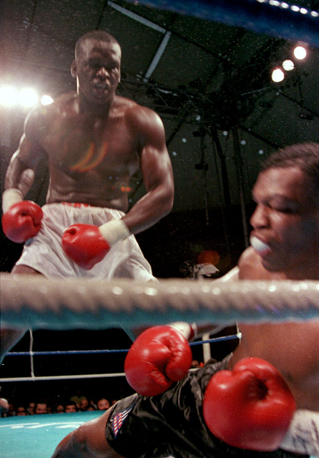 His seemingly impossible task done, Douglas stood over the stunned Tyson, who was about to be counted out, sealing the greatest upset in boxing history.