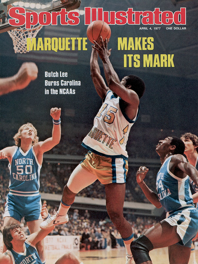 The only player to win championships in the NCAA, the NBA and the BSN — the National Superior Basketball League of Puerto Rico —Lee provided crucial scoring in Marquette's run to its 1977 national championship. He averaged 19.6 points per game that season, but his most memorable contribution was a pass. With the score tied at 49 against North Carolina-Charlotte in the Final Four, Lee fired a full-court pass to Jerome Whitehead for a game-winning basket at the buzzer. The Warriors (they would not adopt the nickname Golden Eagles until 1994) went on to beat North Carolina in the final as Lee scored 19 points to earn the tournament's Most Outstanding Player Award. The native Puerto Rican won the Naismith College Player of the Year Award in 1978.