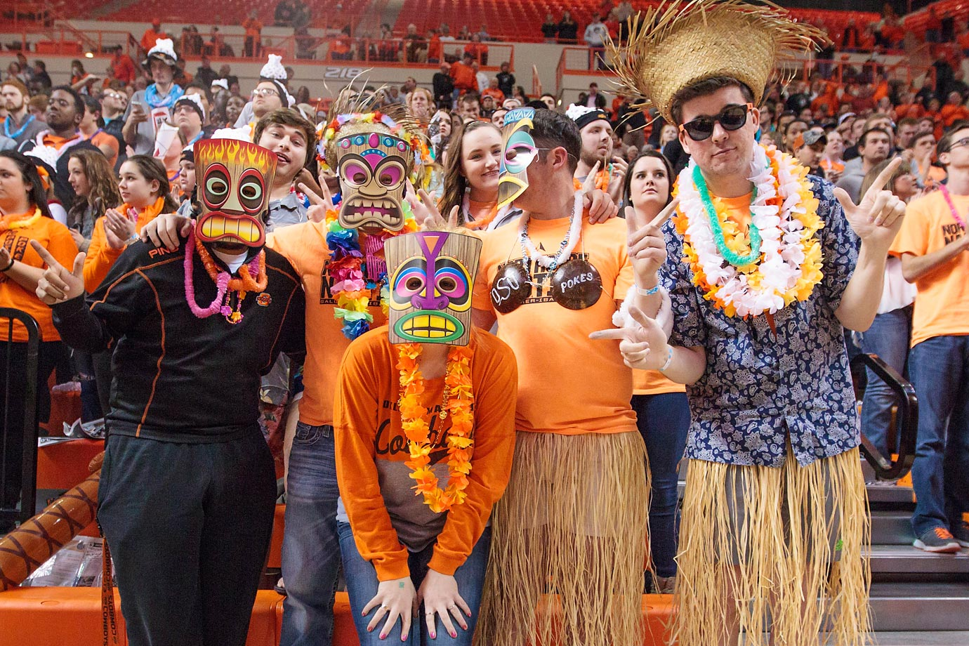 Oklahoma State Cowboys fans during their game against the Iowa State Cyclones. Iowa State defeated Oklahoma State 70-65.