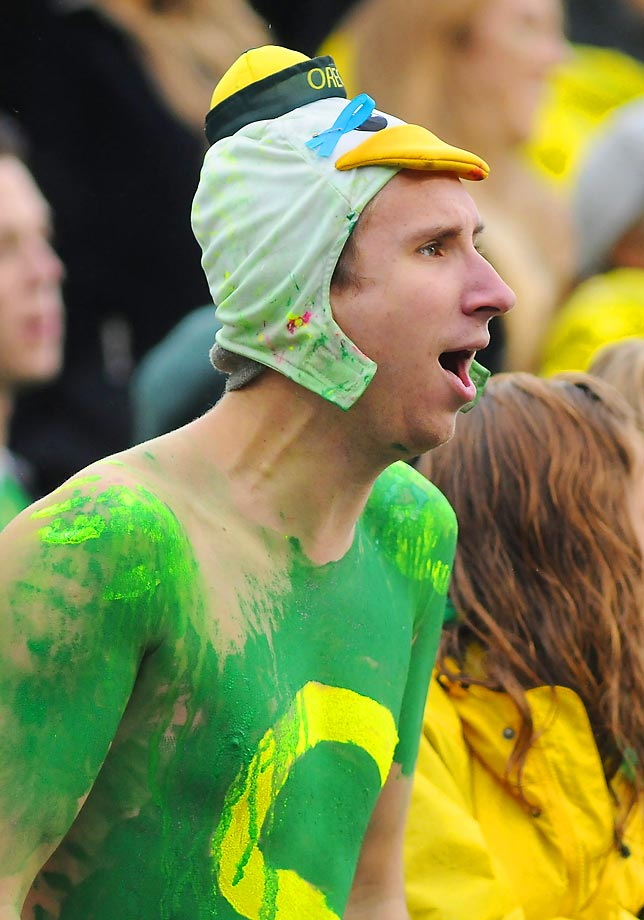 This is the most ridiculous Ducks fan we've seen this week.