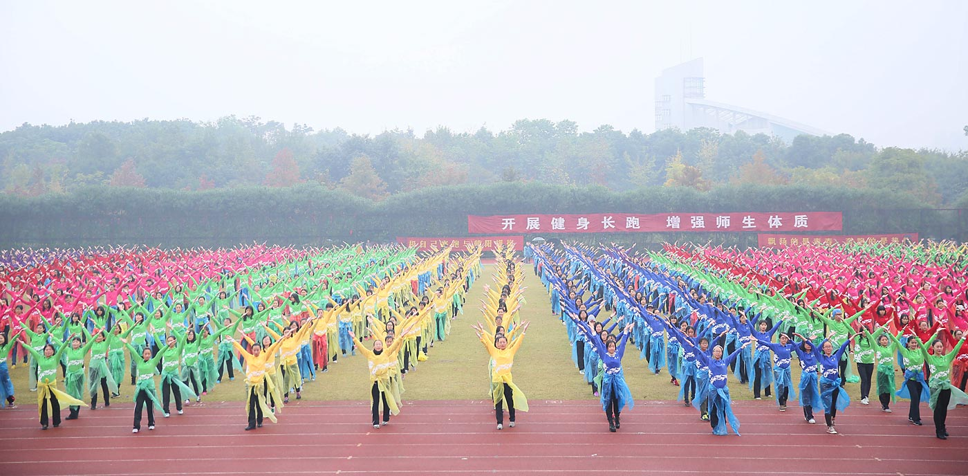The largest line dance involved 25,703 participants and was achieved by China Line Dance Sport Promotion Center in 2014.