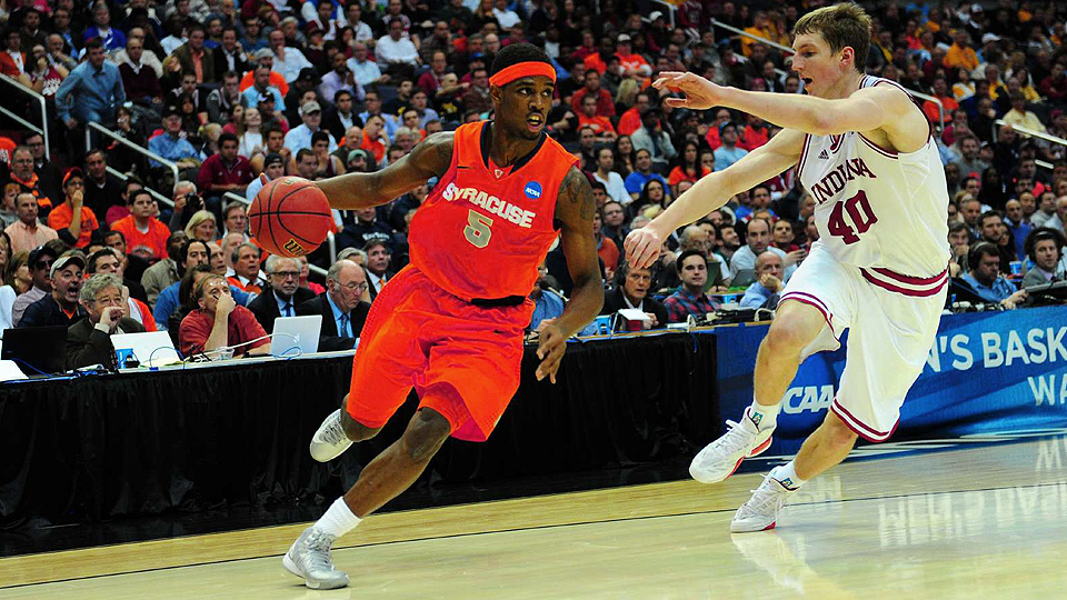 In his four years at Syracuse, C.J. Fair (left), played against his fair share of lottery picks like Cody Zeller (right).