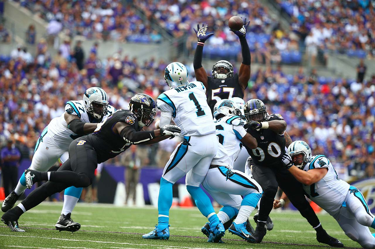 The Ravens held Cam Newton to 197 yards passing and one touchdown.