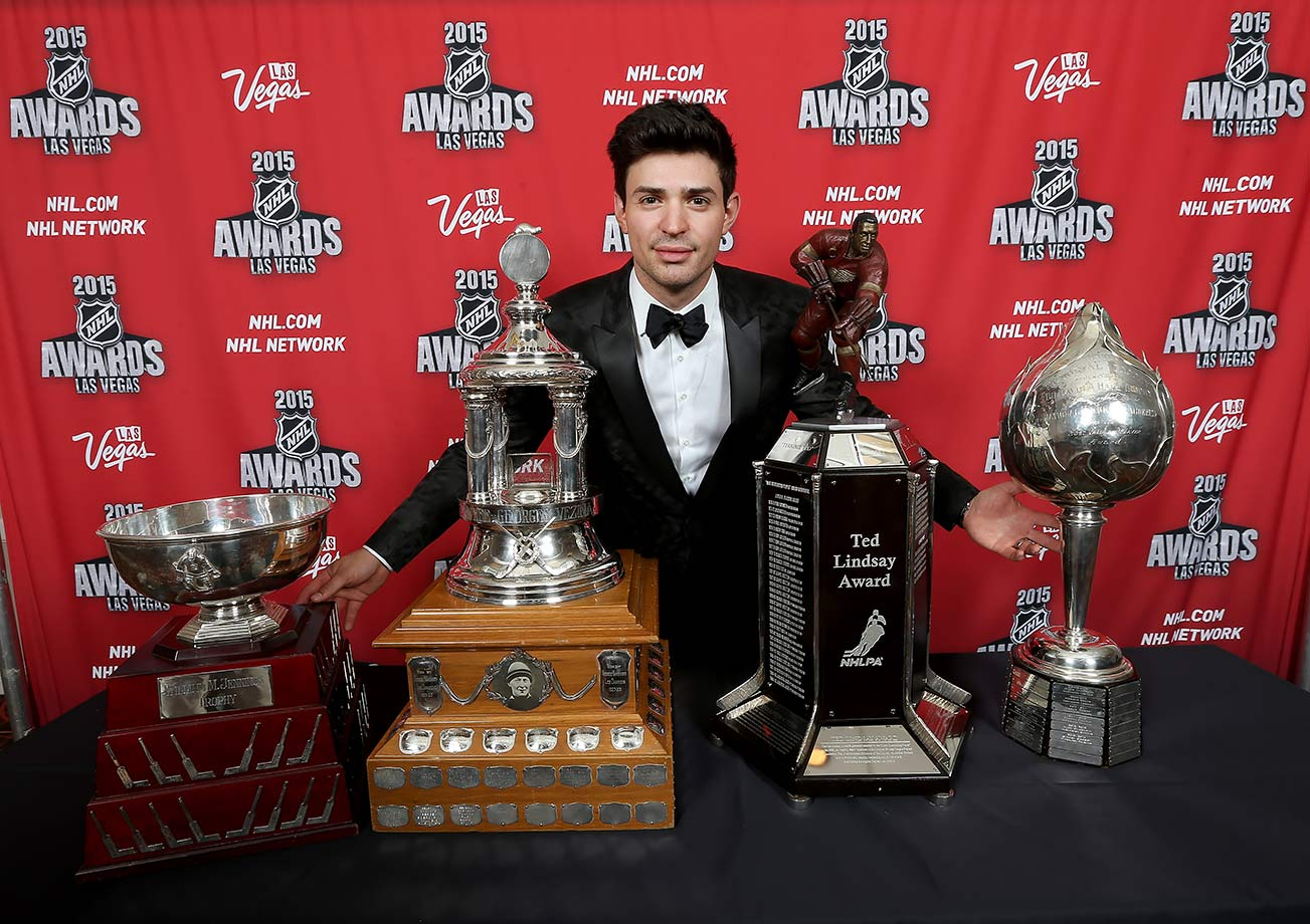 It was a season for the ages. Building on his Olympic success, Carey Price claimed every major NHL award available to him last season, including the Vezina Trophy as the league's best goalie, the Hart Trophy as MVP, the Ted Lindsay Award as the players' MVP, and a share of the Jennings Trophy for allowing the fewest goals. He also set the Canadiens franchise record for goalie wins in a season with 44 and finished the year by claiming the Lou Marsh Award as Canada's top athlete.