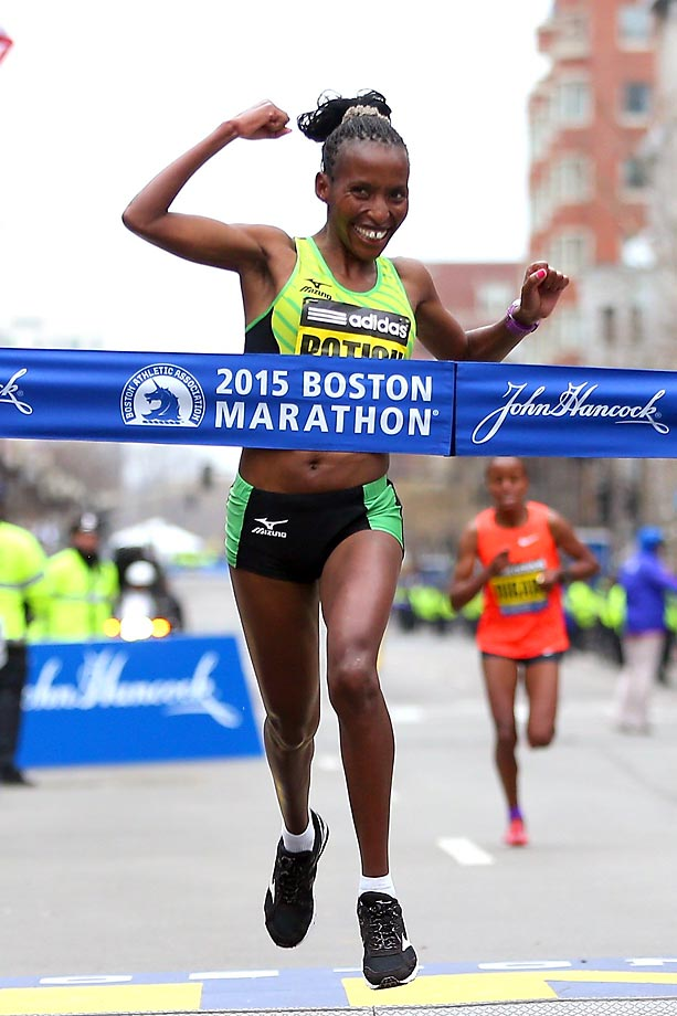 Here are some scenes from the 119th Boston Marathon, where Lelisa Desisa won for the men, and Carolina Rotich for the women.