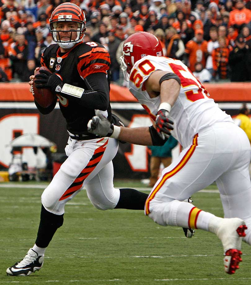In his 12 years in the NFL, Carson Palmer has had only one Birthday Game and the day he turned 30 was bittersweet. He threw two touchdown passes in a 17-10 victory over Kansas City that clinched a playoff spot for the Bengals for the second time in 19 years. However, the game was played only five days after the team had flown to Louisiana to bury former teammate Chris Henry, and hearts were understandably still heavy.