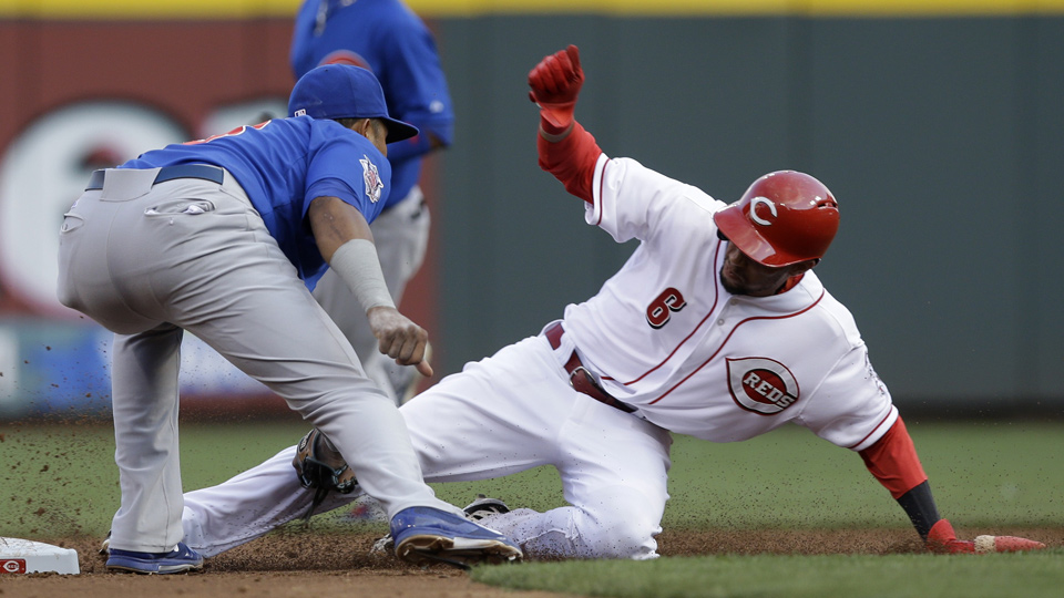 Billy Hamilton's bat had just begun to come alive before he left Wednesday's game with an apparent injury.