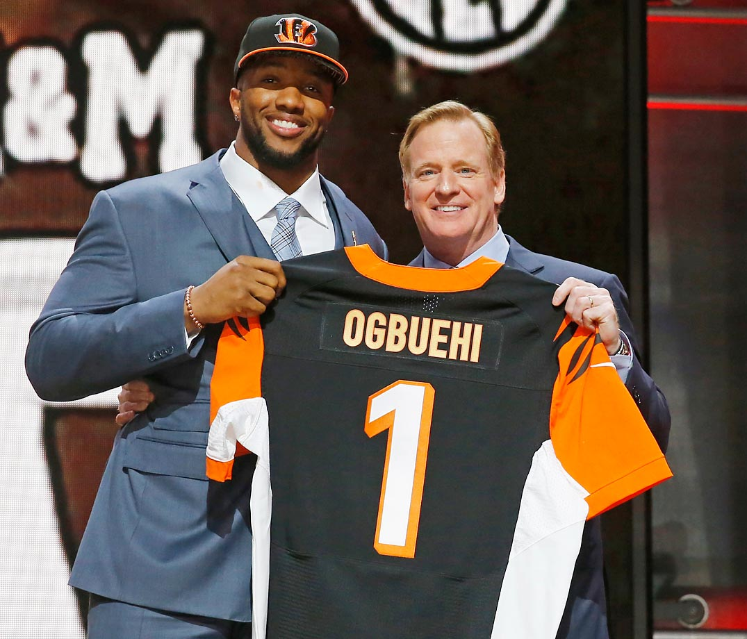 Used in a sentence: Ogbuehi was the Bengals' first-round draft pick in 2015.