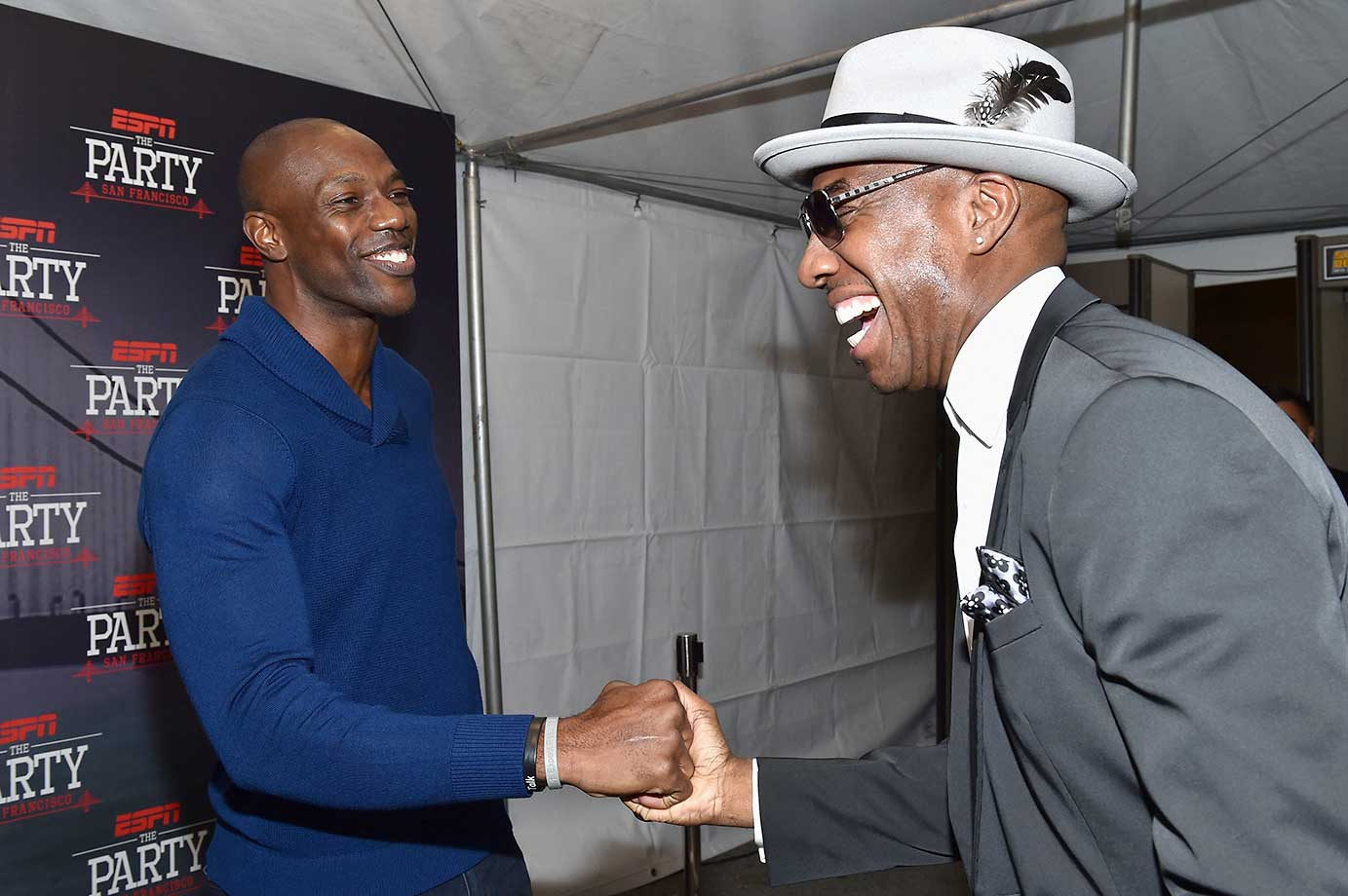 Terrell Owens and actor/comedian J. B. Smoove :: ESPN The Party