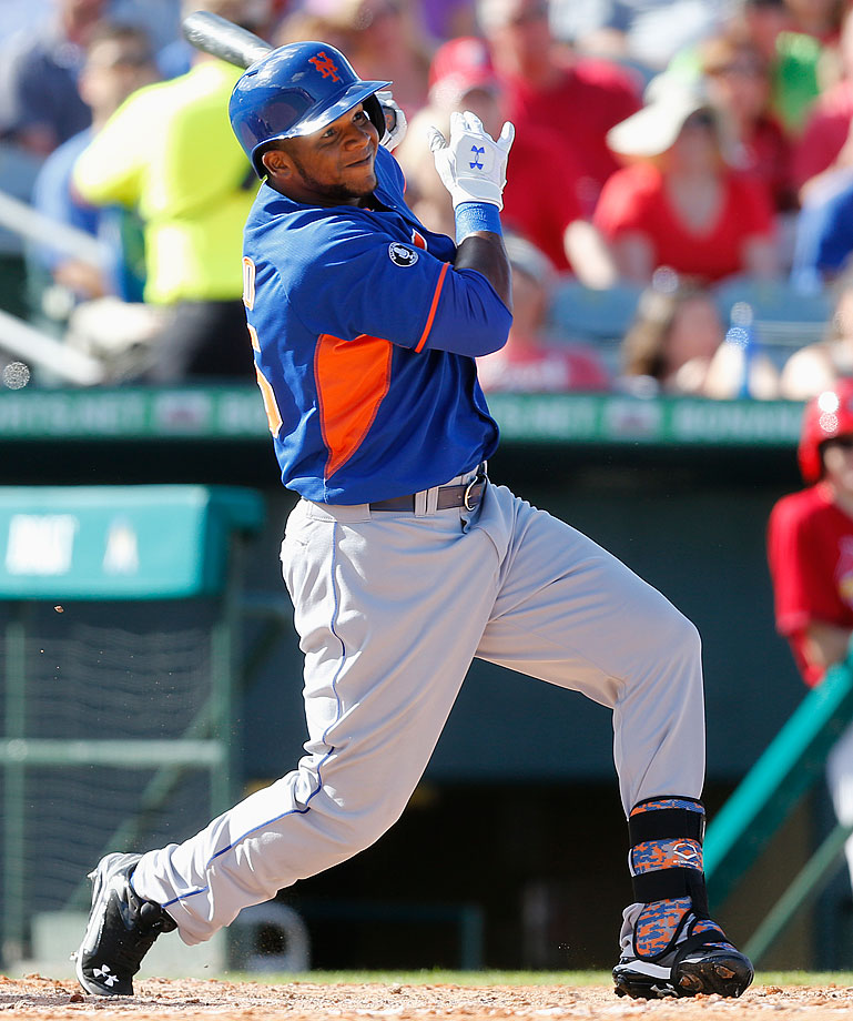 2013: (w/New York Mets AA affiliate): 331 AB, 63 R, 16 HR, 73 RBI, 24 SB, .326 BA, .403 OBP --- 2014 (through Aug. 4, w/Mets (AAA affiliate): 236 AB, 39 R, 4 HR, 29 RBI, 13 SB, .242 BA, .344 OBP