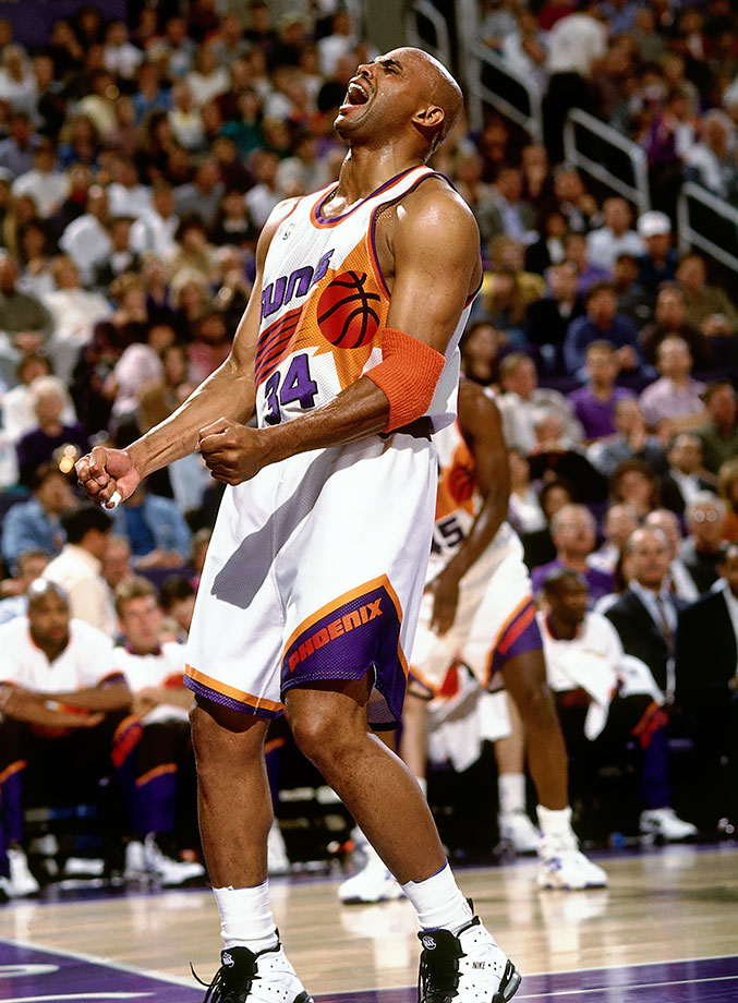 After winning the MVP award during the 1992-93 season, Barkley declared that the 1993-94 season would be his last, blaming a back injury. Despite the injury, Barkley went out and dominated the Rockets on Christmas Day, besting Hakeem Olajuwon with 38 points, 18 rebounds and four assists during the Suns' 111-91 victory.
