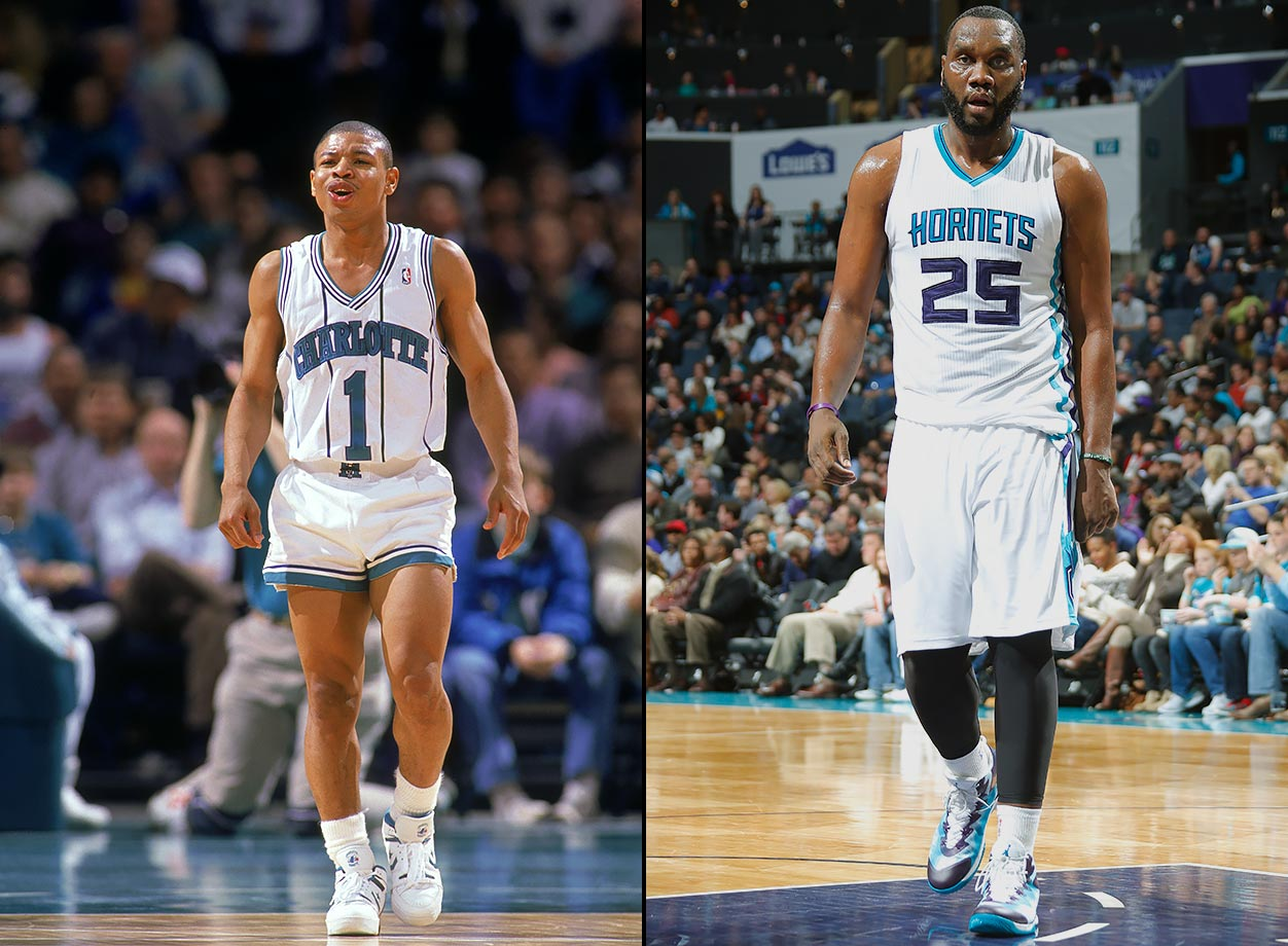 The Hornets franchise's first year in Charlotte was in 1988, and they remained there until after the 2001-02 season. The team moved to New Orleans to begin the 2002-03 season, where they have been since. An expansion team—the Bobcats—moved to Charlotte in 2004. Things got more confusing in 2013, when the New Orleans Hornets changed their name to the Pelicans. The next year, the Bobcats changed their name back to the Hornets.