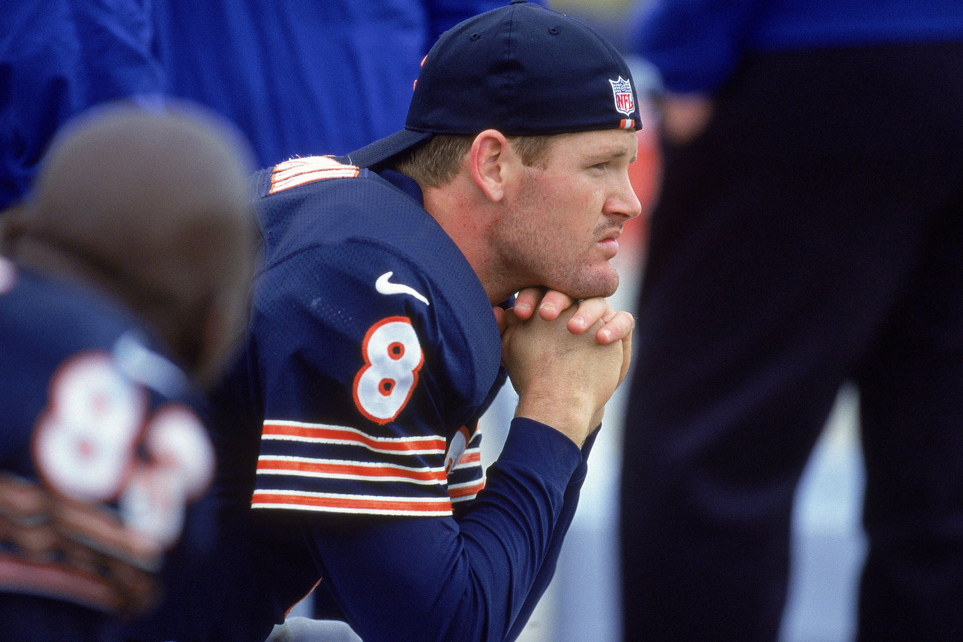 The decision to take McNown with the No. 12 pick in the 1999 draft is one of the worst of their epically bad quarterback personnel decisions. McNown was a holdout through most of his rookie preseason, but eventually signed a seven-year, $15 million deal with a $6 million signing bonus. There were incentives in that deal worth another $7 million—safe to say McNown at least saved the Bears money there. McNown played sparingly in his first five games, throwing his first touchdown pass (and his first two picks) against the Eagles in Week 6. Eventually, ineffectiveness and injuries forced the Bears to go in a different direction at the quarterback position. By the time he was traded to the Dolphins in 2001, McNown was reduced to fighting for Chicago's third-string job with Danny Wuerffel.