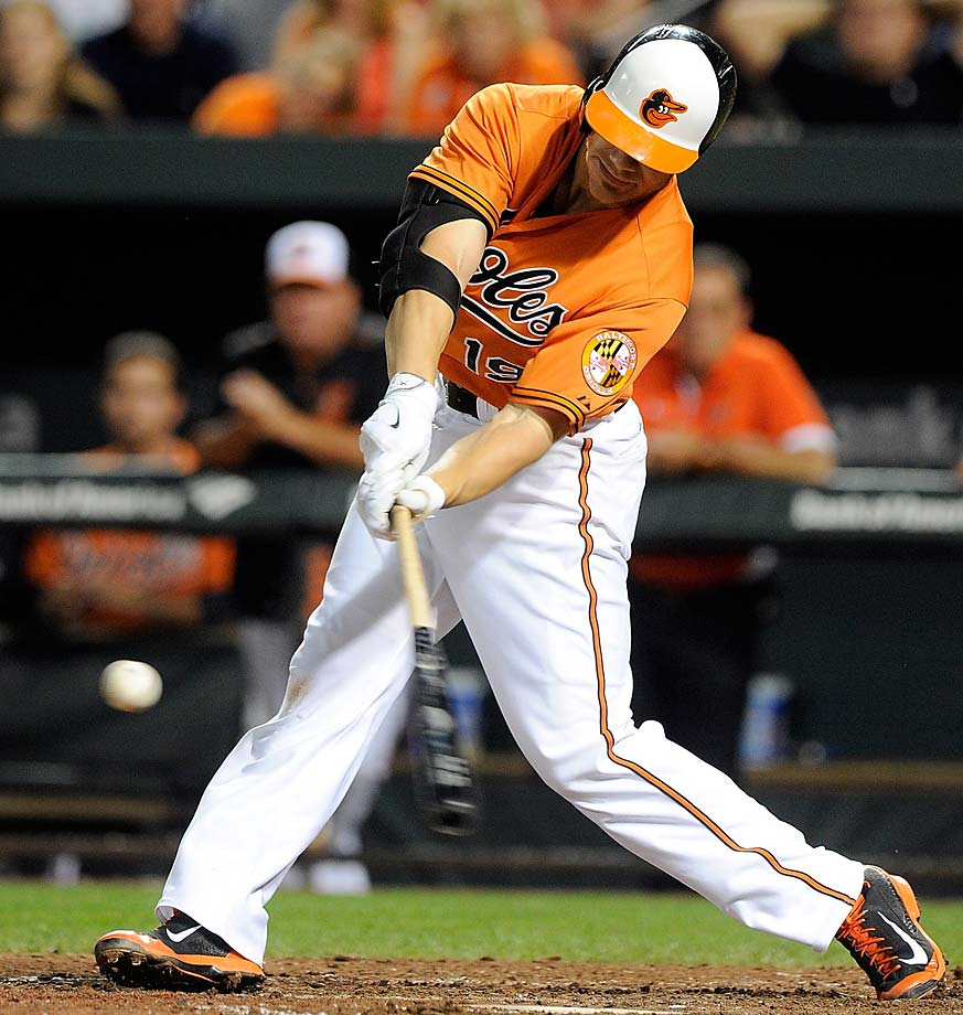 Chris Davis delivered a walk-off home run in the ninth inning against the Oakland Athletics on Aug. 15 to give the Baltimore Orioles a 4-3 win—their second walk-off victory in as many nights.