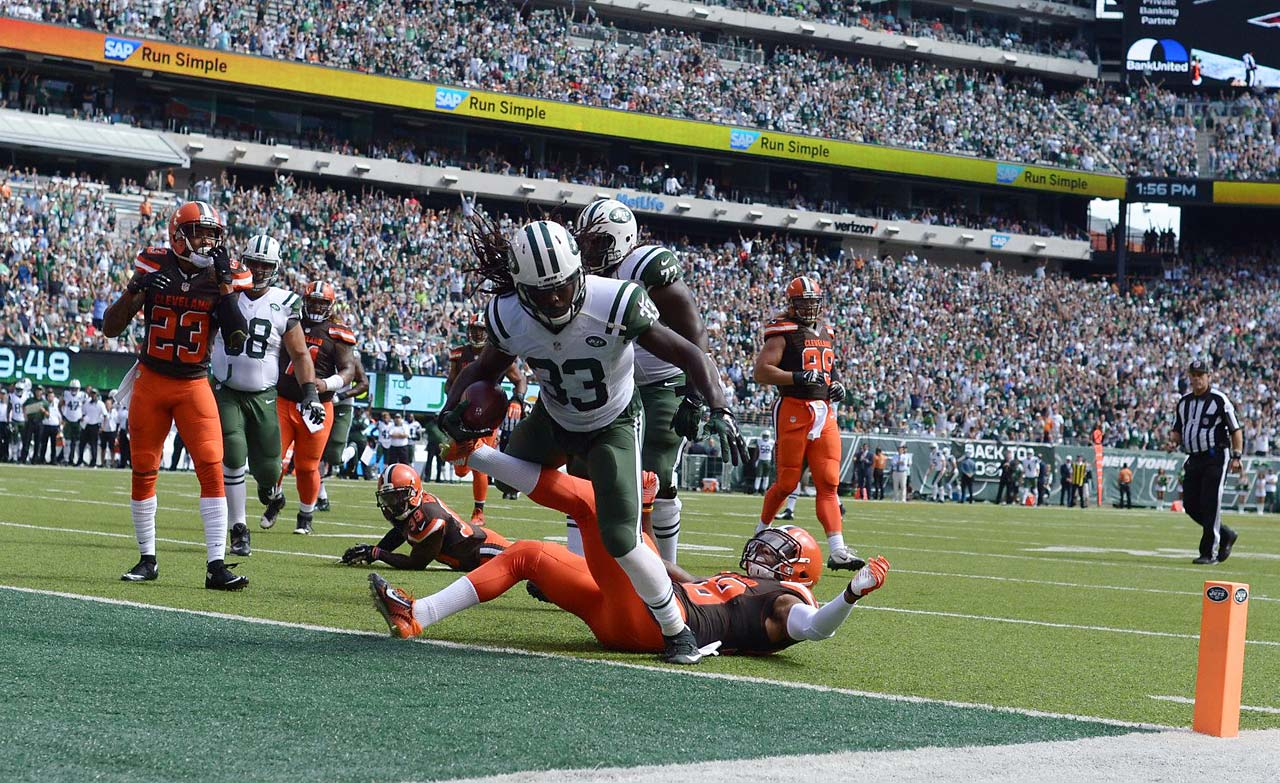 Chris Ivory scored two touchdowns against Cleveland as the Jets won their opener.