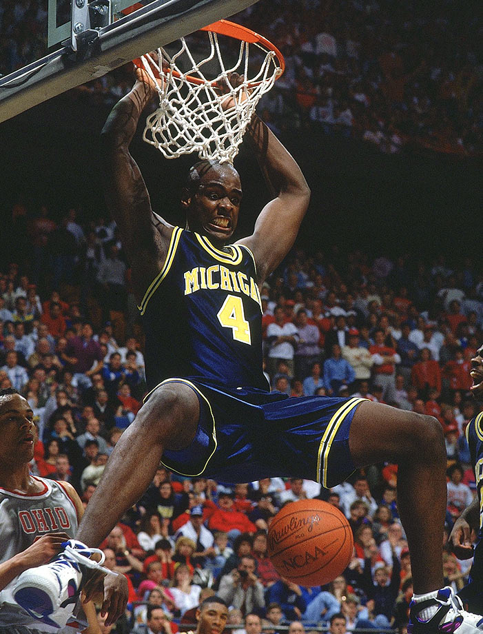 Webber's legacy at Michigan is more defined by his infamous timeout when the Wolverines didn't have any in the championship game against North Carolina. Webber recorded a double-double in the Elite Eight, Final Four and championship game of the 1992 NCAA tournament and scored 23 points with 11 rebounds in the 1993 title game.