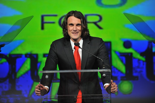 Chris Kluwe speaks onstage at the fifth annual PFLAG National Straight for Equality Awards