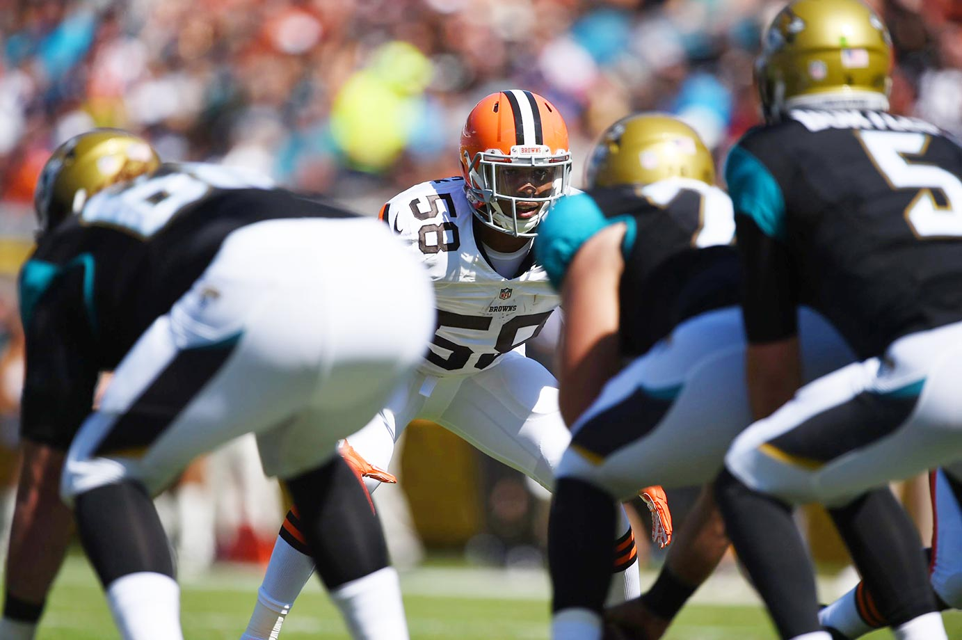 Few may be familiar with Kirksey's game, but the rookie from Iowa flashed on the tape as the kind of range player who could be extremely valuable over time as a nickel inside linebacker. Don't sleep on his development in Cleveland's improving defense.