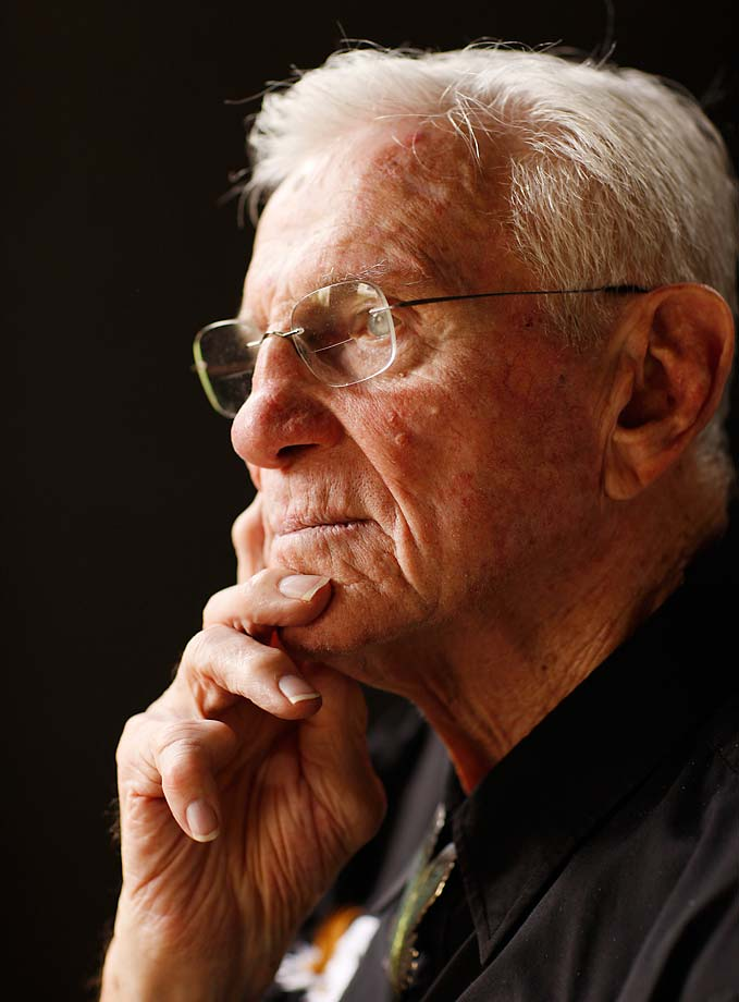 A 2011 portrait of Hall of Famer and former Philadelphia Eagle Chuck Bednarik.