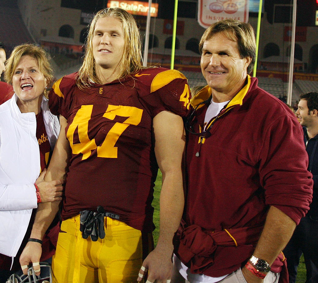 The Matthews family brand grew even bigger after USC alum linebacker Clay Matthews III helped lead the Green Bay Packers to a Super Bowl win in 2011. His father, Clay Matthews Jr., was an All-America at USC and played 19 seasons at linebacker in the NFL. Even Clay Matthews Sr. played four seasons at defensive end with the San Francisco 49ers in the 1950s while Clay III's brother Casey played linebacker with the Philadelphia Eagles for four seasons since being drafted in 2011.