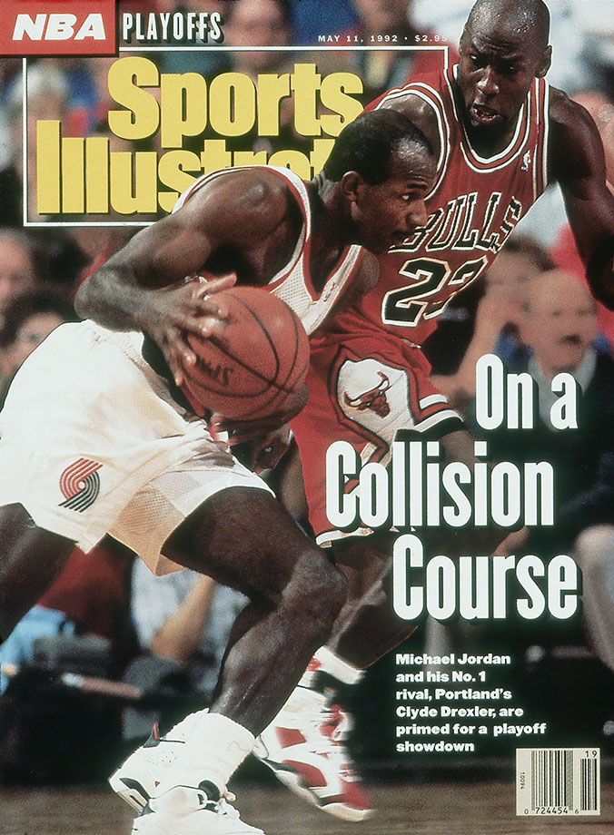 He wasn't the only player semi-buried under the Jordan avalanche. Clyde dribbled with his head down and only went right, but on many, many nights he was unstoppable.