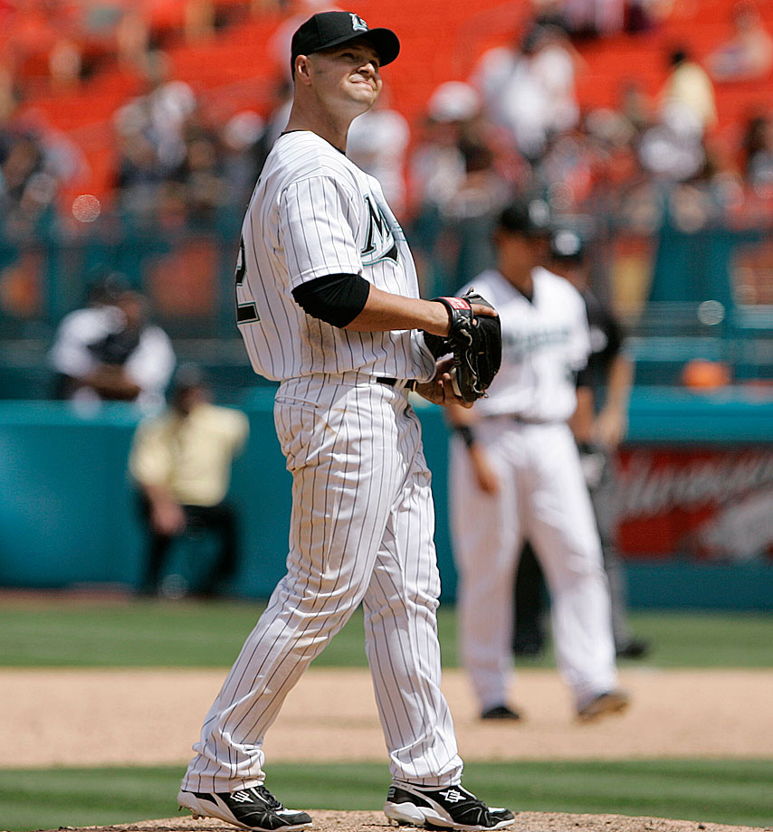 At the tail end of a six-game losing streak, the Florida Marlins sent outfielder Cody Ross to the mound. Drawing from his previous experience as pitcher in high school (he pitched a perfect game against for Carlsbad High in New Mexico), Ross held off the Phillies in the ninth inning, facing four batters and allowing one run.