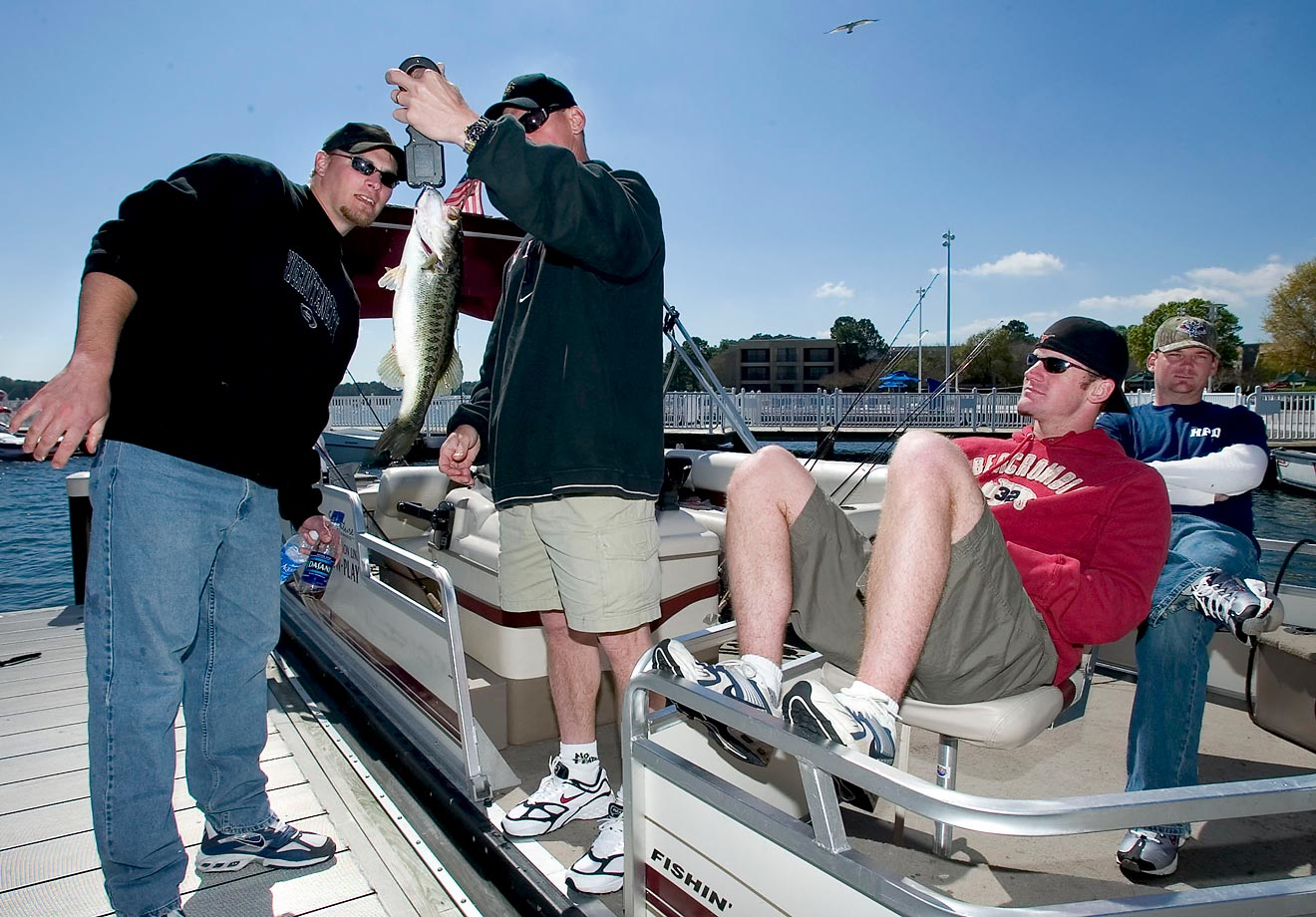Houston Astros' Craig Biggio, center, Wade Miller, Brad Ausmus and Ricky Stone during the 1st Annual Walt Disney World Recreation Spring Training Bass Classic.