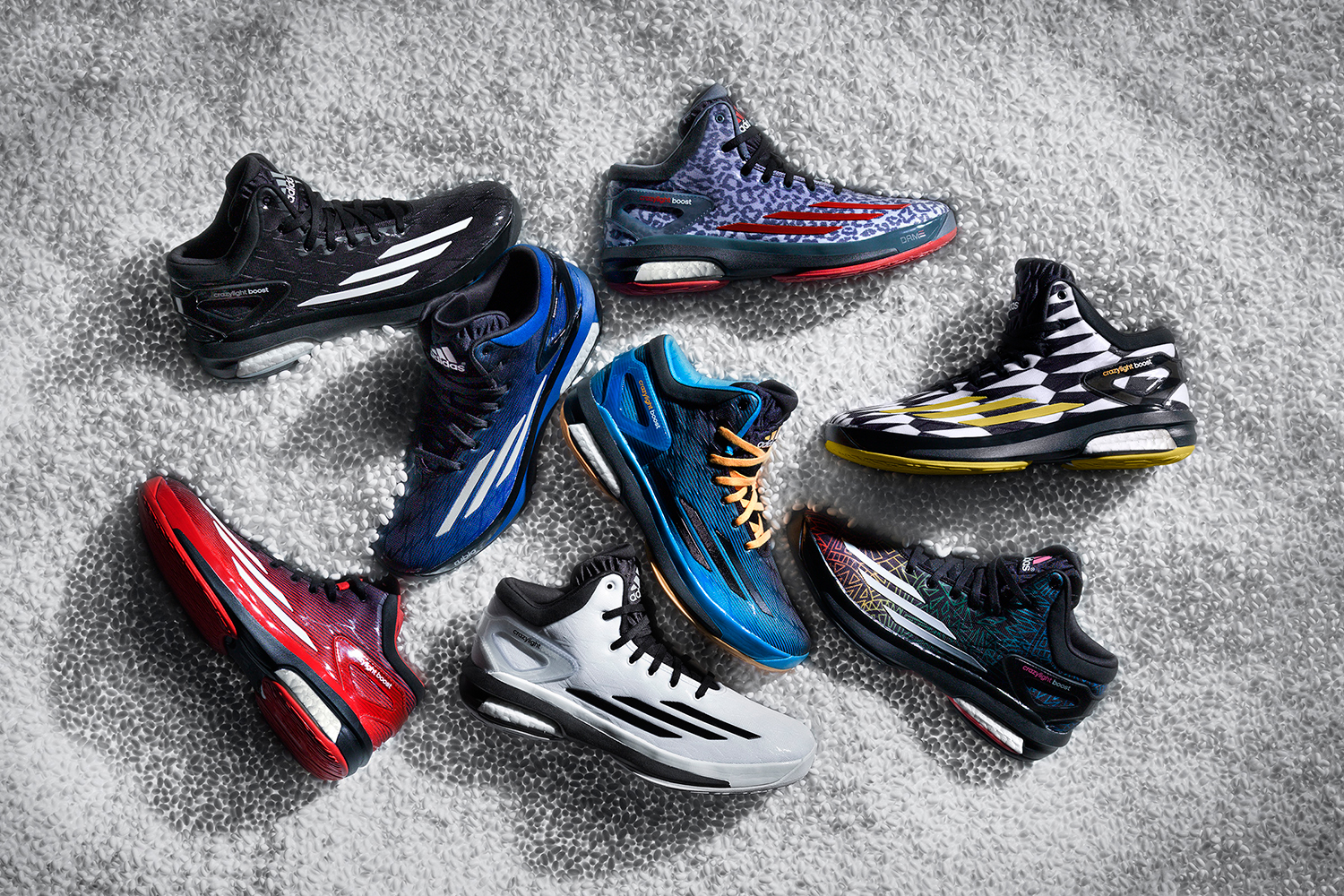 At 11.6 ounces, the Crazylight Boost lives up to its name, but still offers ample cushioning by bringing the new adidas cushioning technology to basketball. The Boost system—a new foam layer built by heat-steaming thousands of pea-sized capsules together—plays visually too. And while this Boost technology and the mesh upper help to make this a supremely comfortable shoe, the dynamic coloring options gives the Crazylight Boost plenty of personality.