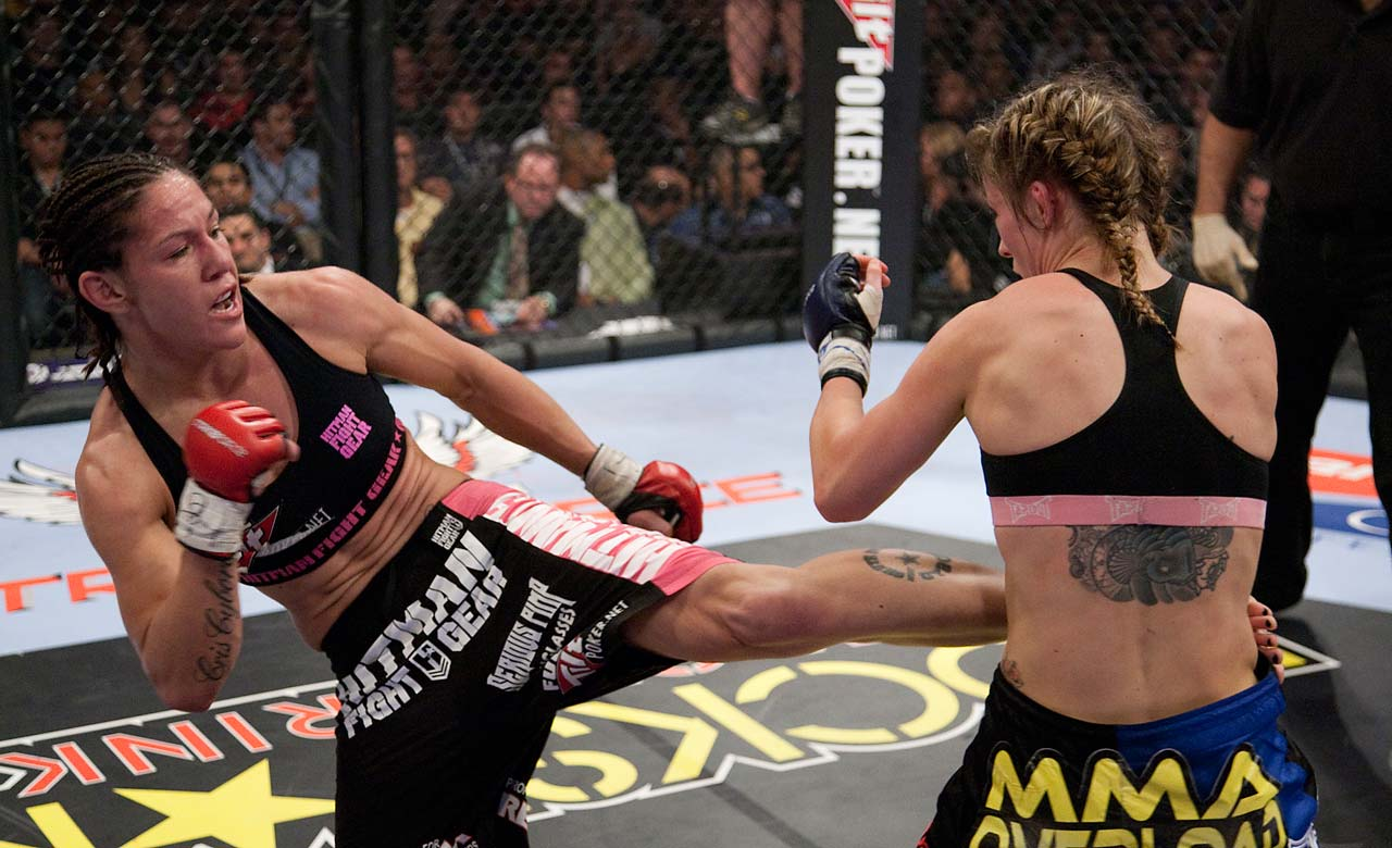 Justino closed out 2010 with her second consecutive Female Fighter of the Year award.