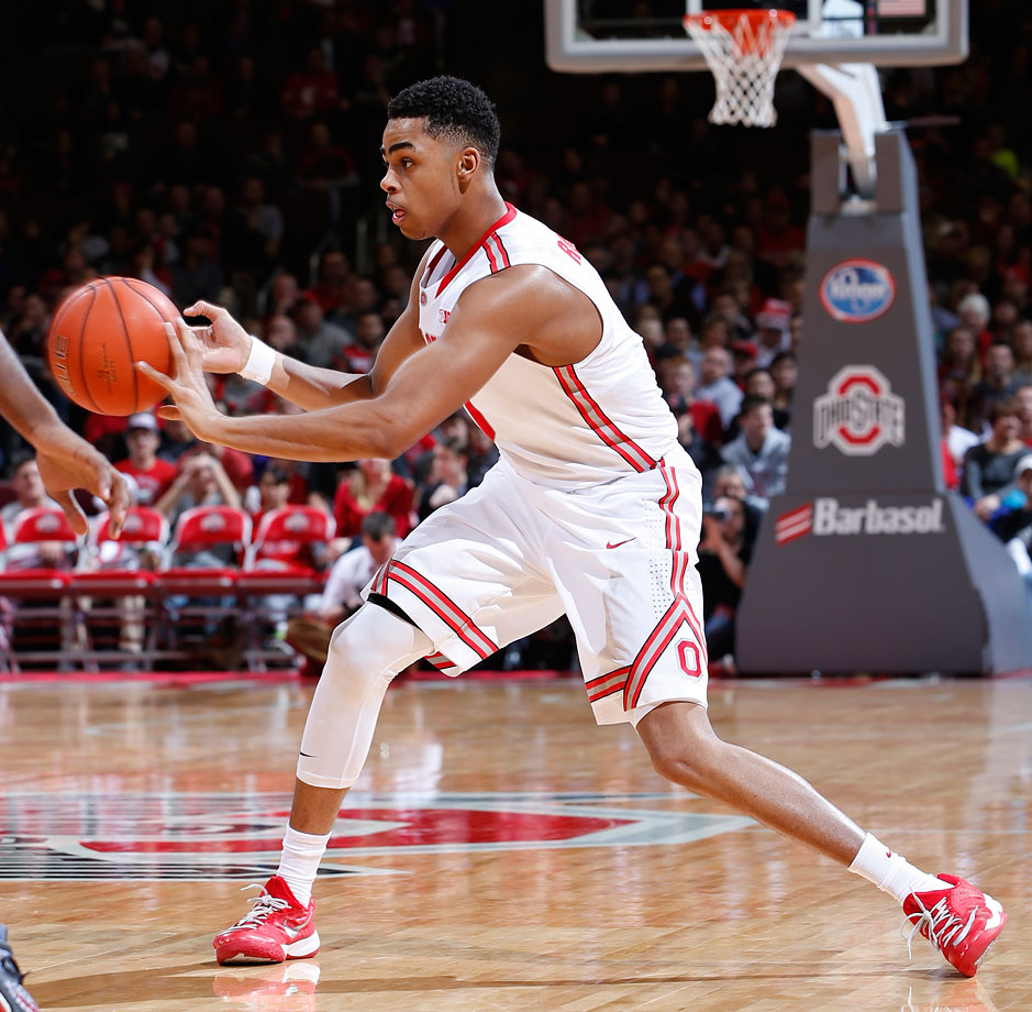 Russell started this season with no hype, and has earned any and all recognition through his play on the court. Russell can fill it up with the best—he averages 19.2 points per game—but he's an even better passer than scorer. Though he's only a freshman, Russell will be trusted with making the right play in key moments for the Buckeyes.