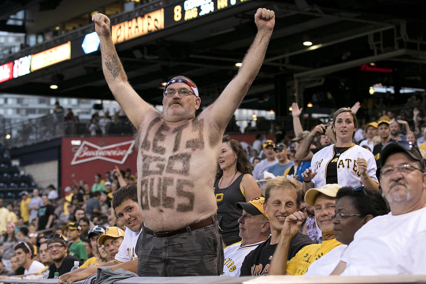 A Pirates fan during a game against the Arizona Diamondbacks.
