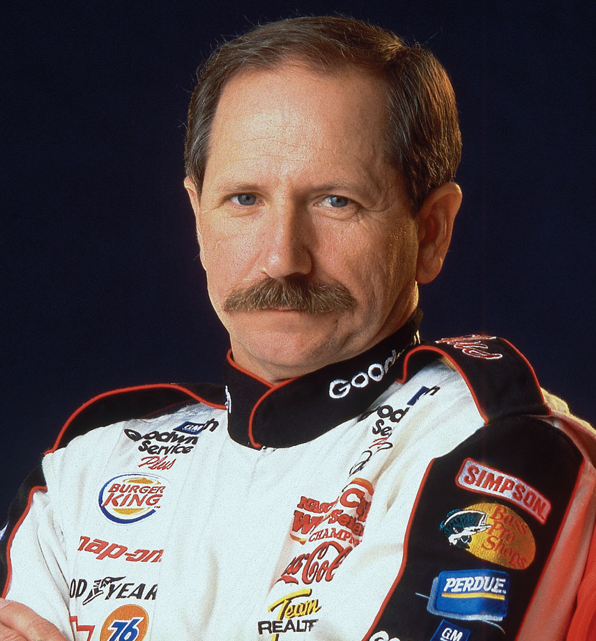 The mustache gave the late, legendary Intimidator an added edge.