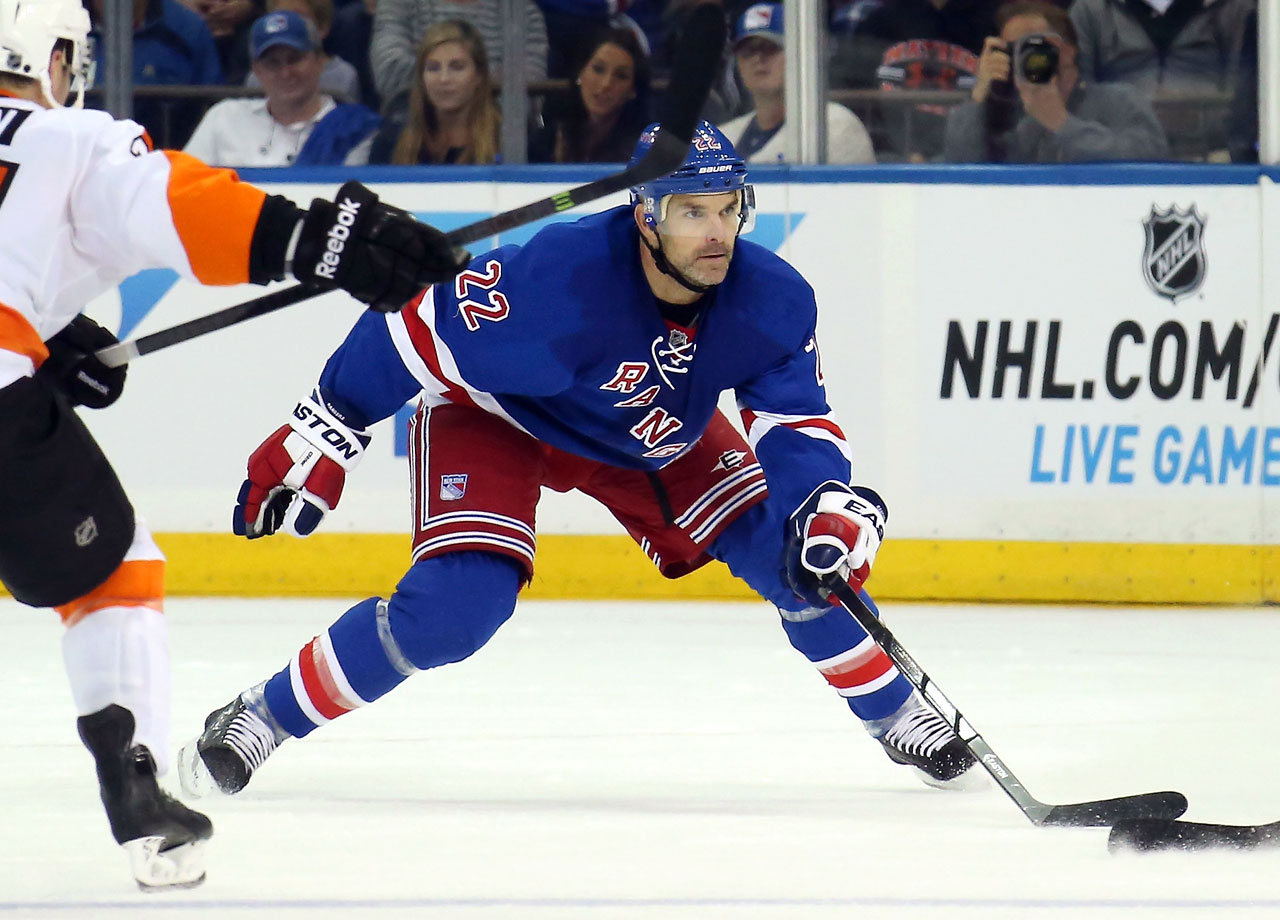 Having lost Anton Stralman to free agency, the Rangers brought in the 38-year-old former Sharks star to solidify their second pairing and quarterback their power play. Boyle was clearly jazzed to come to New York, leaving more money on the table in Detroit and on Long Island. Unfortunately, the Ranger will have to wait to find out what Boyle can do for them. He fractured his hand in the season opener vs. St; Louis and will be sidelined up to six weeks.