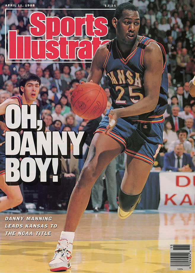 Danny and the Miracles stunned the nation in 1988 when they won the national championship after losing 11 games in the regular season, the most for an eventual champion. Manning left Kansas as the school's all-time leader in scoring and rebounding, and his 2,951 career points topped the Big Eight record books as well. In the final against Oklahoma, Manning had 31 points, 18 rebounds and five steals. The three-time Big Eight Conference Player of the Year also led Kansas to the Final Four in 1986 and the Elite Eight in 1987.