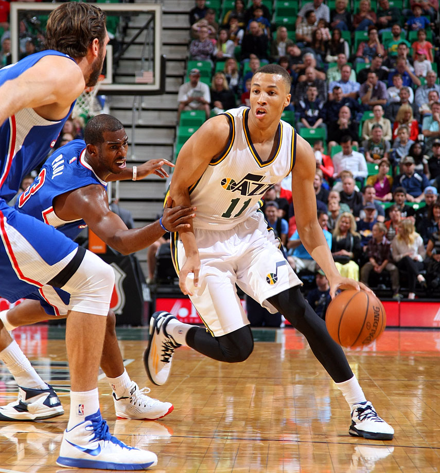 There's a good chance Exum will earn a sizeable chunk of minutes in his first year, if only because the Jazz will be eager to see signs that the player they selected with the No. 5 overall pick is franchise building block-material. Exum is far from a finished product, but his playmaking ability could translate right away. Though the Jazz shouldn't be expected to contend for a playoff spot this season, you may be compelled to watch Quin Snyder's team for the opportunity to see what the biggest mystery in this year's lottery has to offer. Exum's potential is undeniable, but what's realistic to expect from him this year?