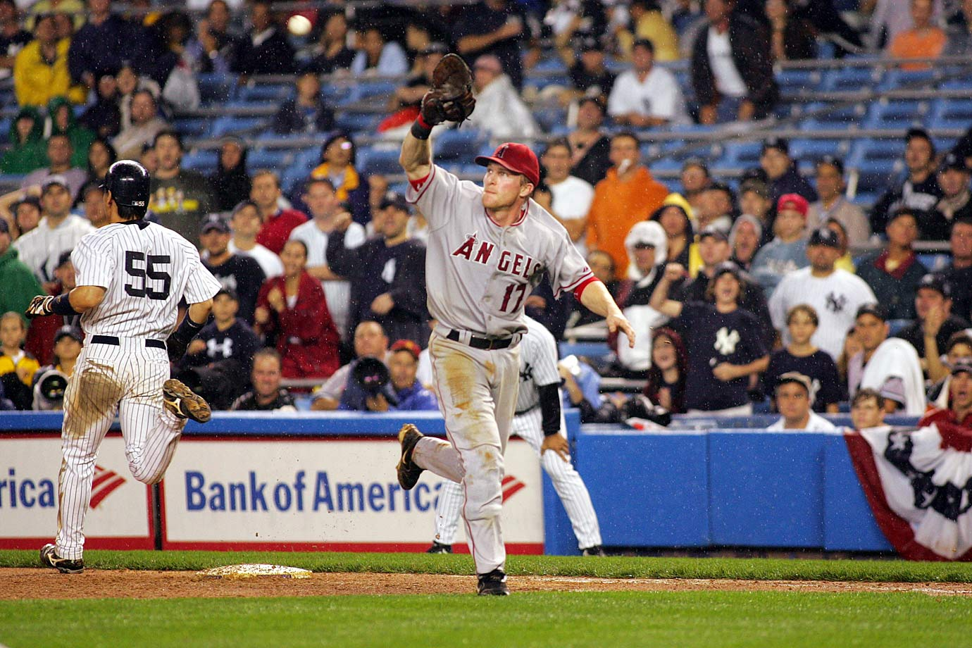Erstad was a dual-sport star at the University of Nebraska: He was the starting punter for the Cornhuskers' football team and was part of the 1994 National Championship team while also leading the school's baseball team. Erstad made his MLB debut the same year he was drafted, ultimately spending 10 seasons with the Angels and winning a World Series in Anaheim in 2002. He also made the All-Star team twice and won three Gold Gloves.