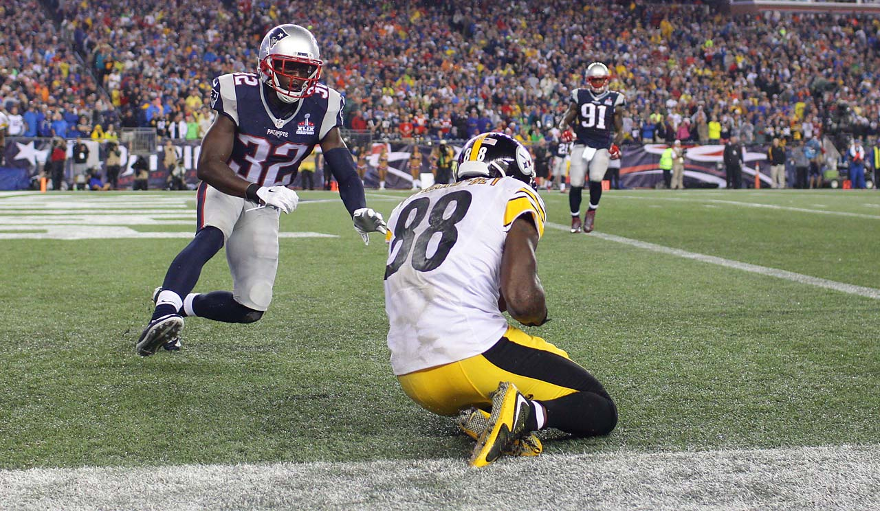 Darrius Heyward-Bey couldn't turn this catch into a touchdown because his foot was out of bounds.