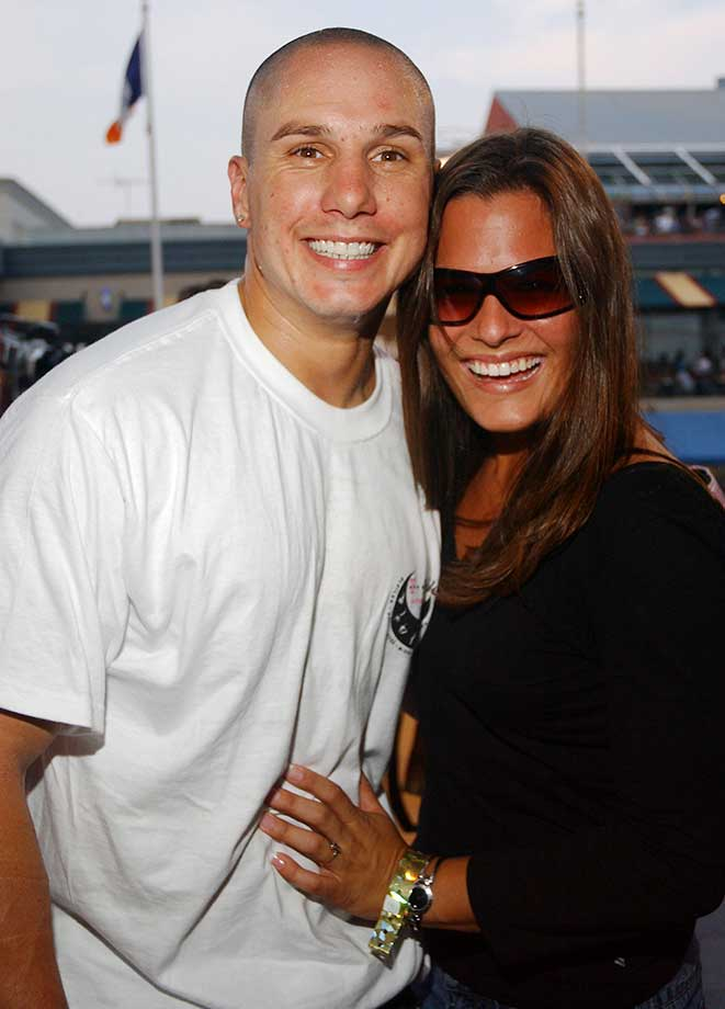 Dave Mirra and girlfriend Lauren Blackwell during a 2004 event at South Street Seaport in New York City.