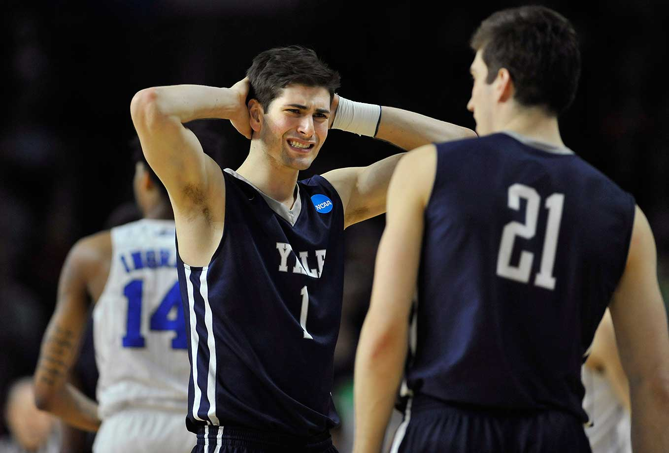 Here are some of the images that caught our eye as half of the Sweet 16 was decided in the NCAA Tournament, starting with Yale coming short of an epic comeback in a loss to Duke.