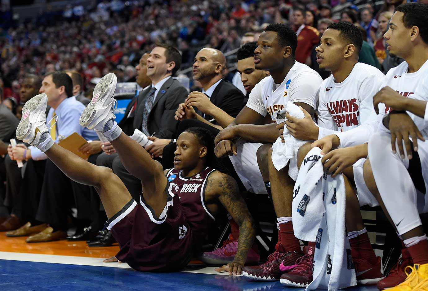 Marcus Johnson Jr. and Arkansas Little Rock fell out of championship contention with a 78-61 loss to Iowa State.