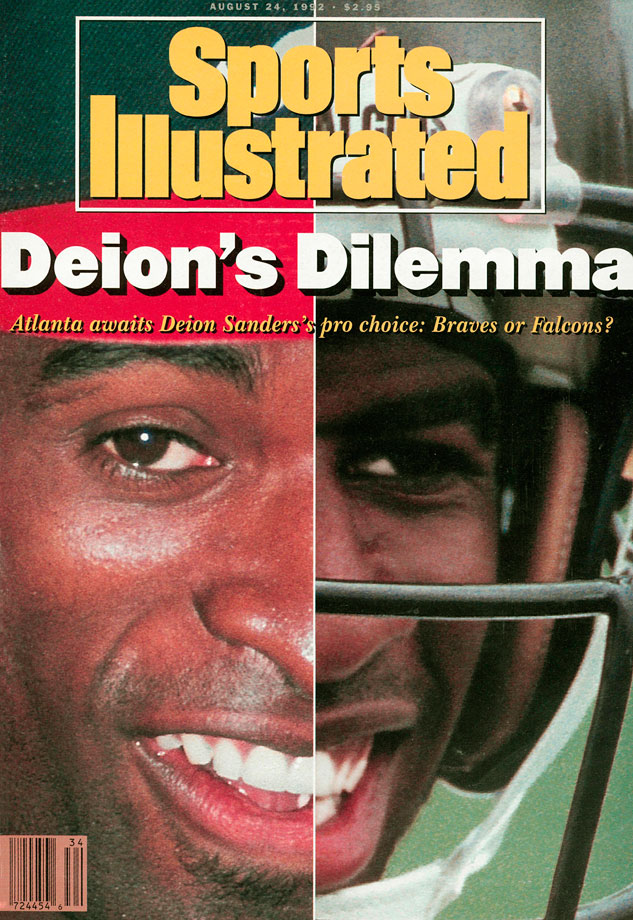 Two years after Bo Jackson made his multi-sport debut, Deion Sanders matched him, playing for the New York Yankees and the Atlanta Falcons. Prime Time kept his two-sport career going without breaking down, playing baseball until 2001 and football until 2005. Sanders achieved far greater success on the gridiron, earning eight All-Pro selections, but did lead the National League in triples in 1992 with 14. He also won two Super Bowl rings and played in the 1992 World Series.